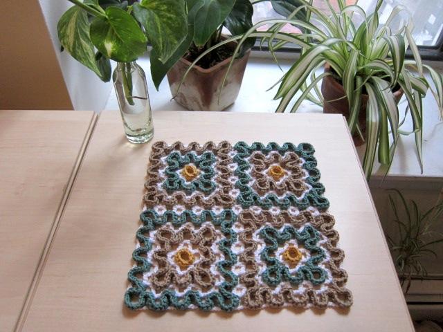 Four square dishcloth